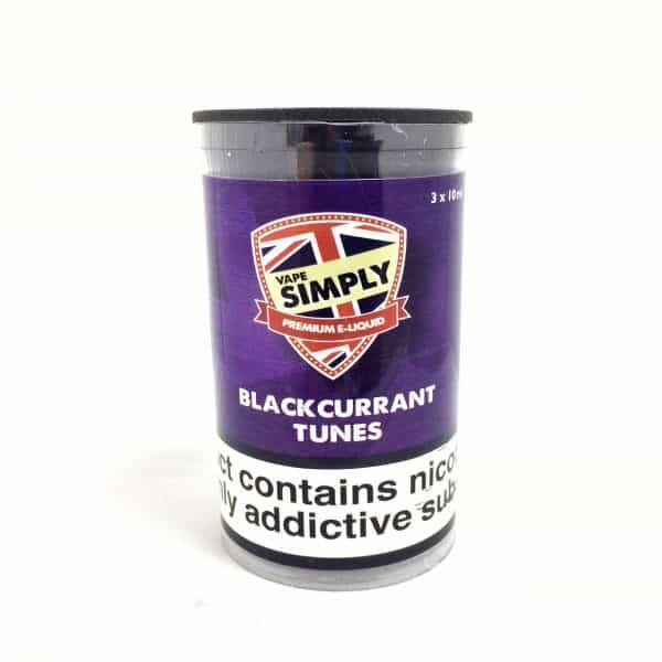 Blackcurrant Tunes E-Liquid By Simply Vapour