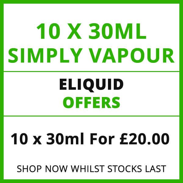 Simply Vapour 10 Bottle 30ml Eliquid Offer