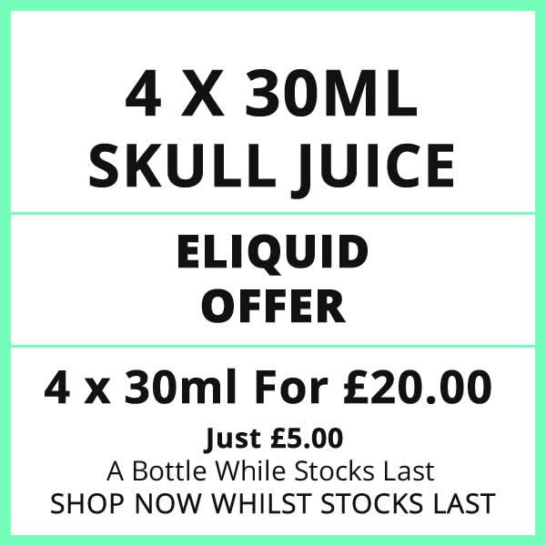 Skull Juice 4 Bottle 30ml Eliquid Offer