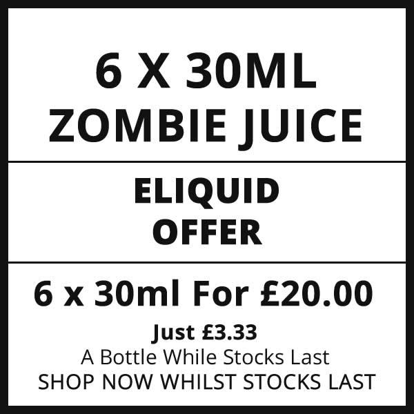 Zombie Juice 6 Bottle 30ml Eliquid Offer