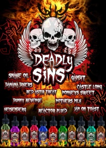 Deadly Sins Product Range