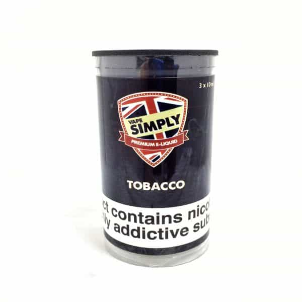 Tobacco - Simply Vapour E Liquid