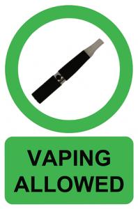 vaping allowed