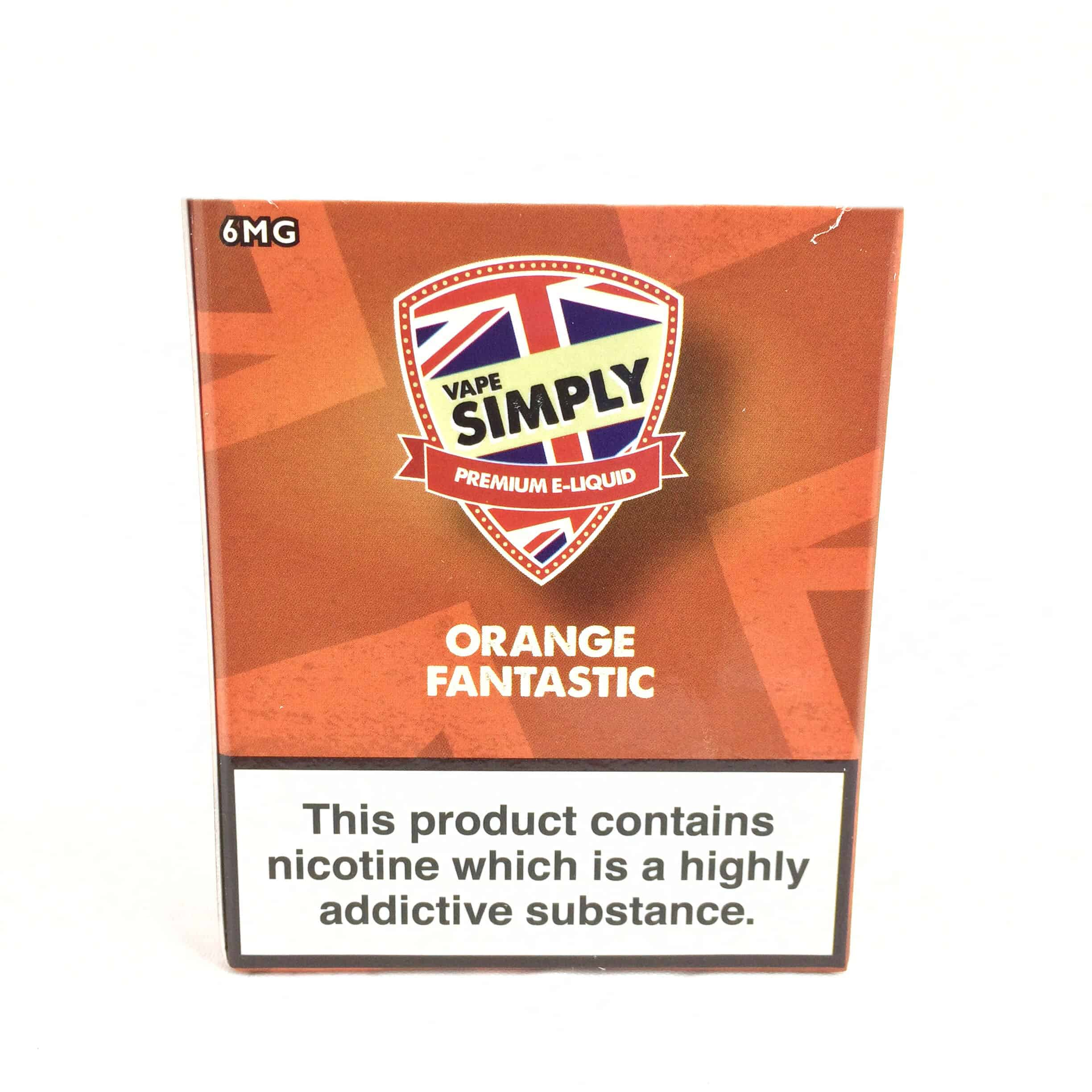 Orange Fantastic E-Liquid by Simply Vapour